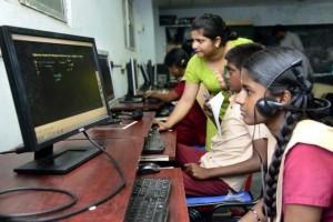 Engrossed in Tamil Version of Khan Academy Math Tutorials
