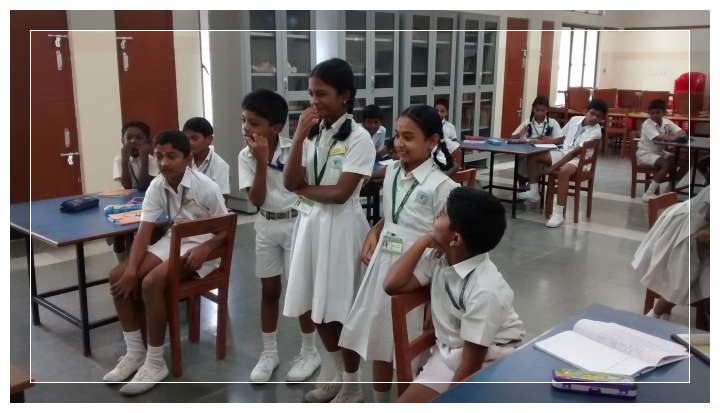Children in teams trying to guess the right word