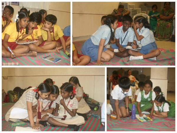 Children playing Scattergories