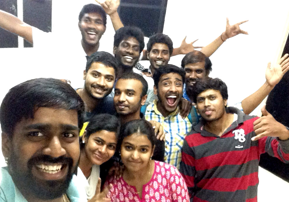 Team  selfie at the end